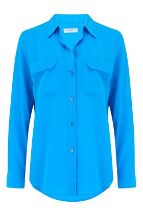 SLIM SIGNATURE SHIRT IN STARLING BLUE