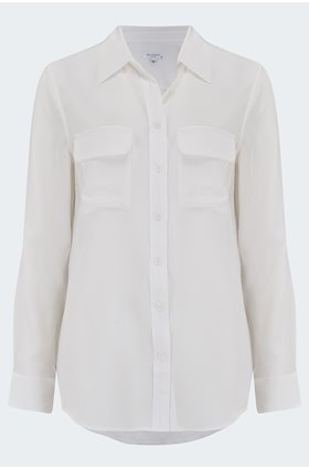 slim signature shirt in bright white
