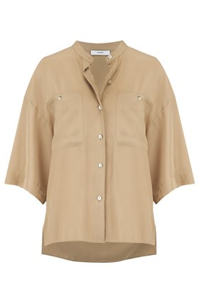 SHORT SLEEVE UTILITY SHIRT IN SUN KHAKI