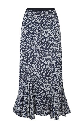 ford skirt in navy blossom