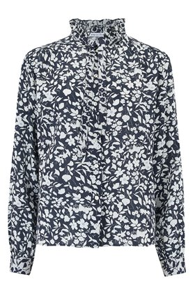 devon shirt in navy blossom