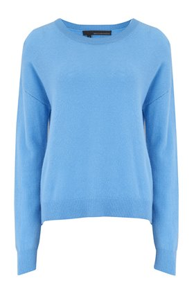 brenna crew neck jumper in capri blue