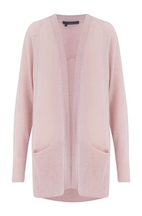michaela long cardigan in honey pink