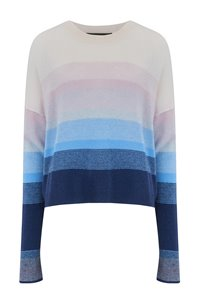 RUSSET STRIPE JUMPER IN NAVY CAPRI OMBRE