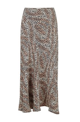 leopard print skirt in natural