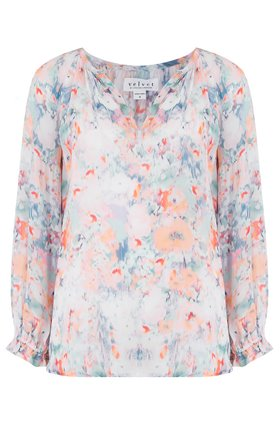 jessa blouse in watercolour