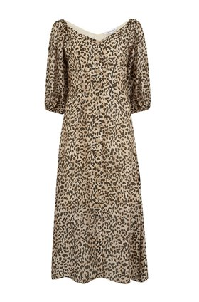 rowan dress in natural animal