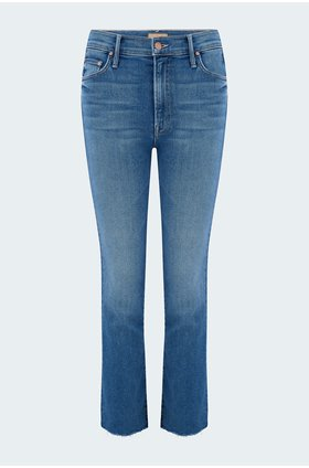 insider crop step fray jean in hey sun