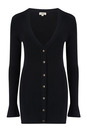 lucas long cardigan in black