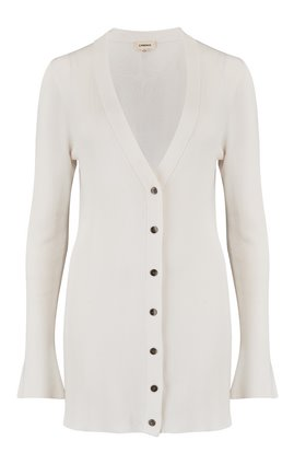lucas long cardigan in white