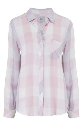 hunter shirt in lavender, blossom & white