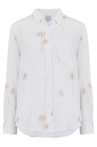 charli shirt in rose gold palms