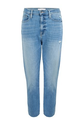 le beau crop raw hem jean in walden rock