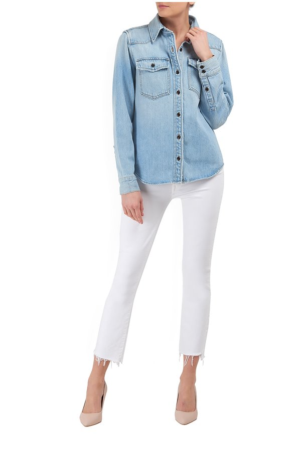 heritage denim shirt in arroyo