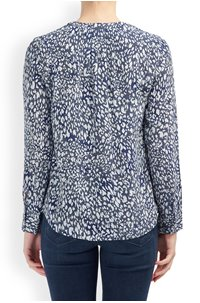 lucille blouse in navy animal