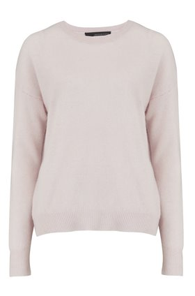 brenna crew neck jumper in tutu pink
