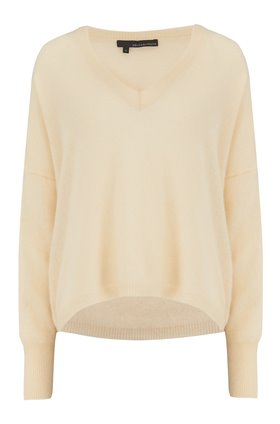 marina v-neck jumper in straw