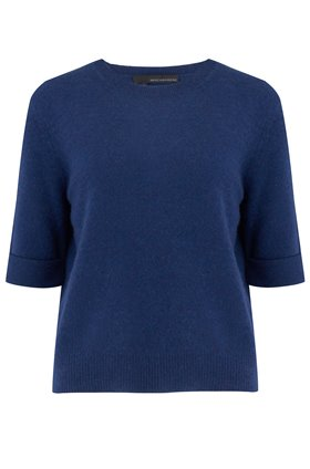 moselle crew neck jumper in navy