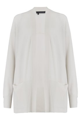 michaela long cardigan in white
