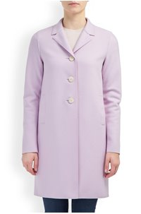 boxy coat in lavender