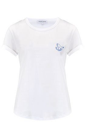 dove liberte t-shirt in white