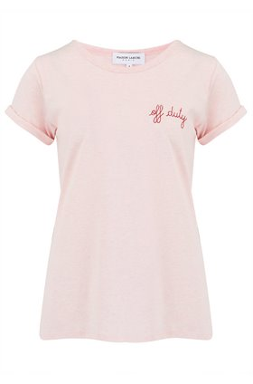 off-duty t-shirt in pink