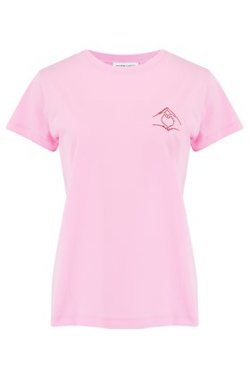 heart boyfriend t-shirt in pink