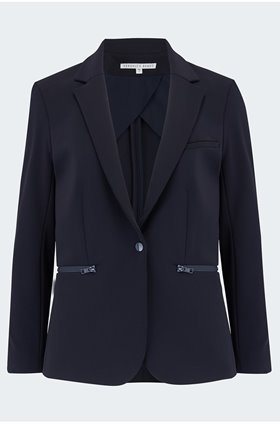 scuba jacket in navy