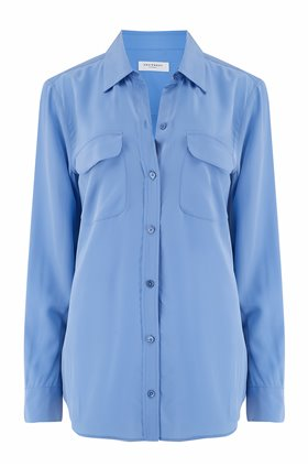 slim signature shirt in sahara blue
