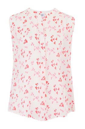 sleeveless hampton heart blouse in mermaid pink
