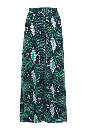 moulton python skirt in jungle green
