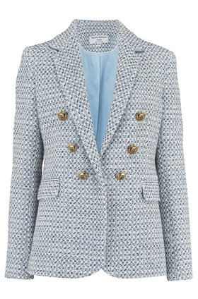 carine jacket in light blue
