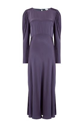 rosaleen dress in deep mauve