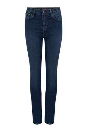 J Brand Ruby High-Rise Cigarette Jean in Reprise (30 Inch Inseam)