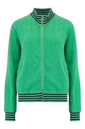 terry stripe sweatshirt in green