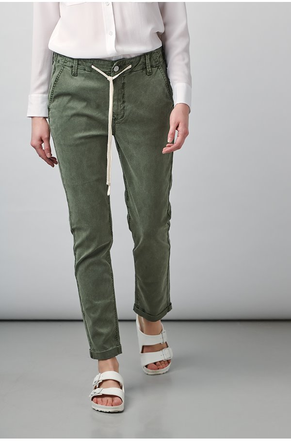 christy trouser in vintage coastal green