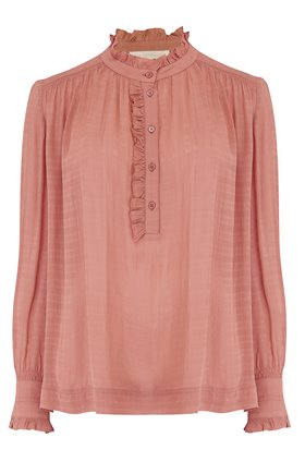 nina blouse in blush