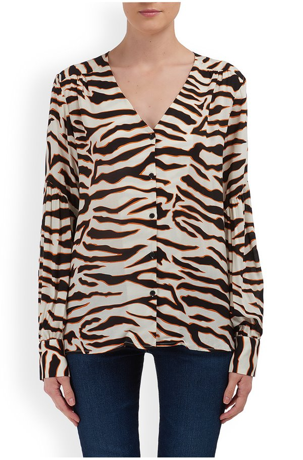 tiger blouse in cream