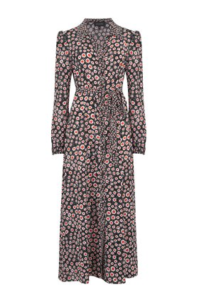 vanessa b dress in batik dot print
