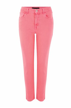 ruby cropped cigarette jean in pink coral