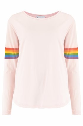 rainbow arms crew top in blossom
