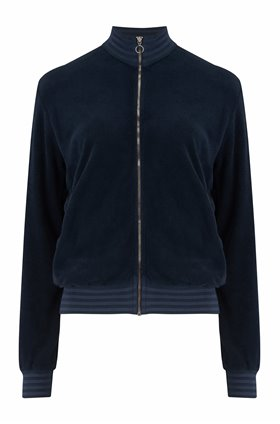 terry stripe sweatshirt in navy