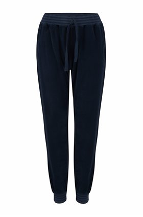 terry stripe cuff sweatpants in navy