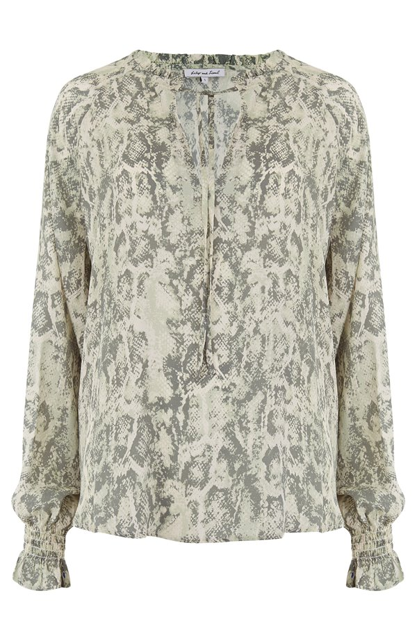exclusive florence shirt in sage snake