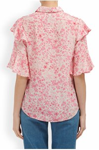 exclusive frankie blouse in pink floral