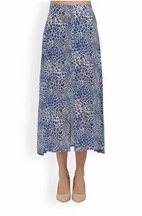 moulton cheetah skirt in sea blue