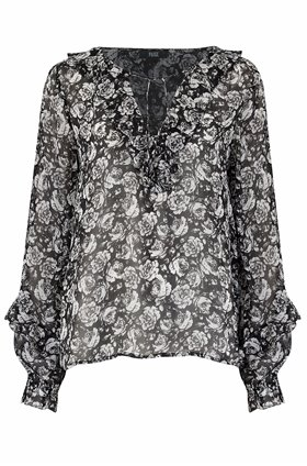 robin blouse in black gardenia