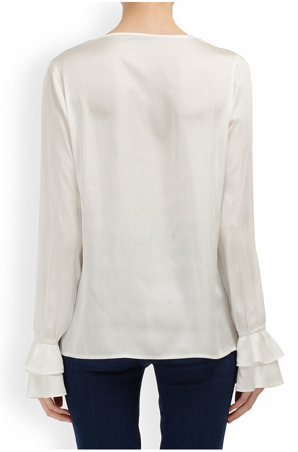 vienne blouse in white