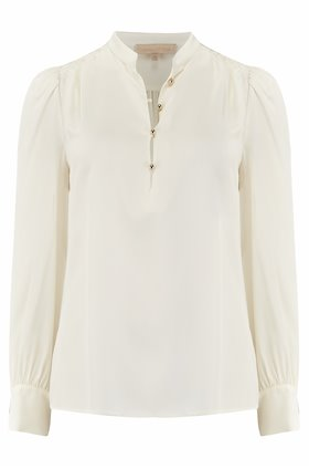 ned silk blouse in ivory