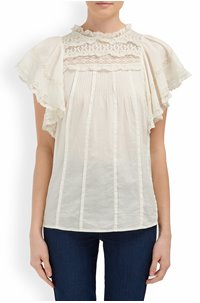 neslie cotton blouse in ivory